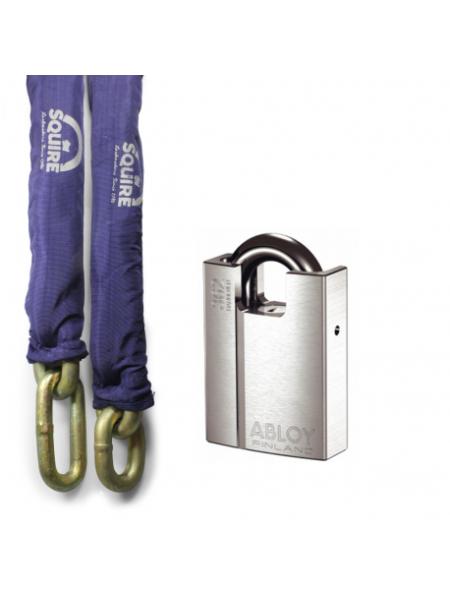 Pack haute sécurité cadenas Abloy PL362 et chaîne Squire TC19-5
