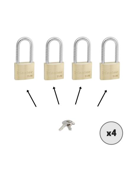 Lot de 4 cadenas MASTER LOCK 4140LH