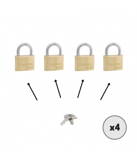 Lot de cadenas MASTER LOCK 4140