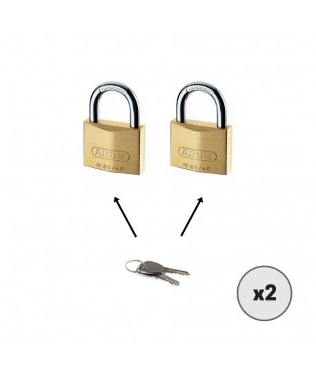 Lot de 2 cadenas ABUS 65/40 TWINS