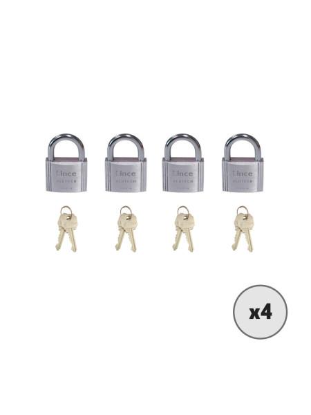 Lot de 4 cadenas en aluminium LINCE 9100-40